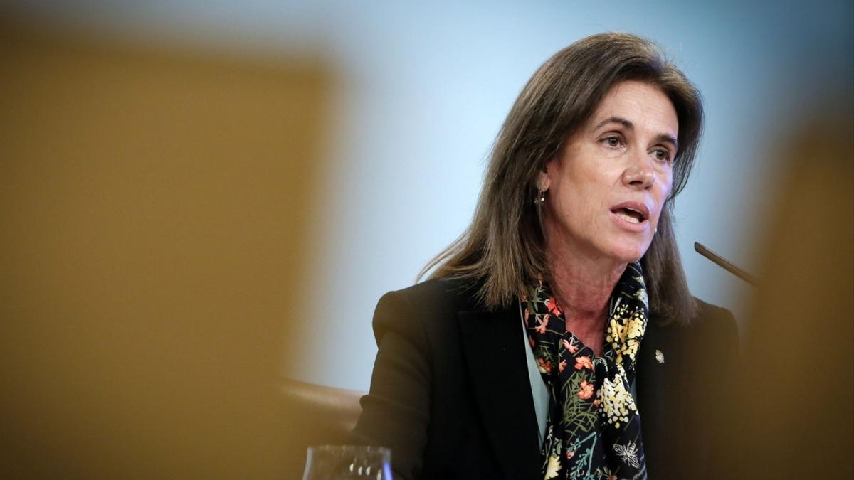 La ministra d'Educació i Ensenyament Superior, Ester Vilarrubla, en una compareixença.