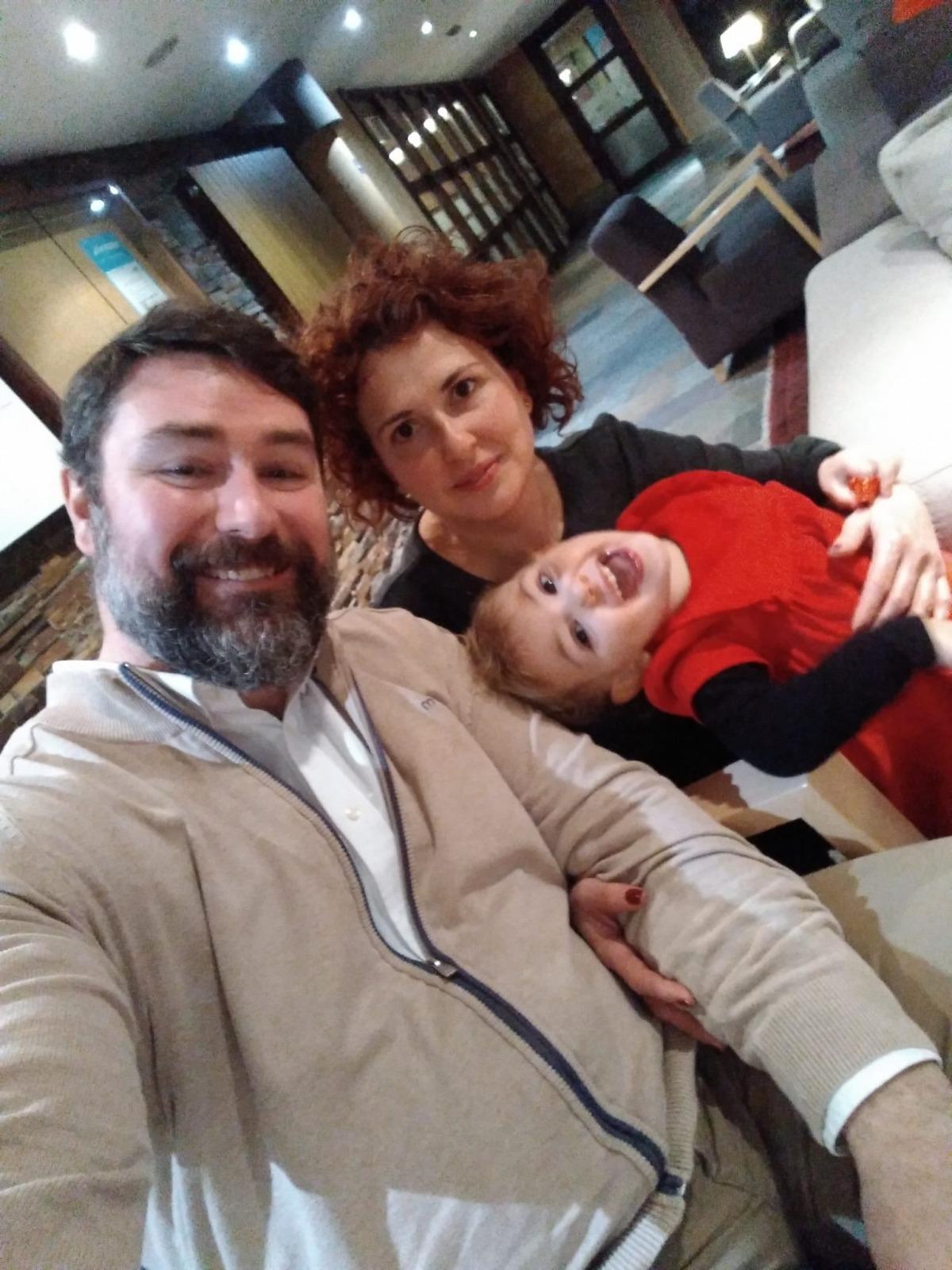 El Roger, la Marta i la seva filla, Meritxell.