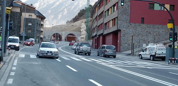 El túnel de Ràdio Andorra.