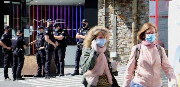 La policia ha fet un desplegament especial al Pas de la Casa.