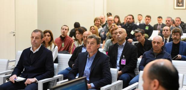 Sandro Rosell i Joan Besolí, durant el judici.