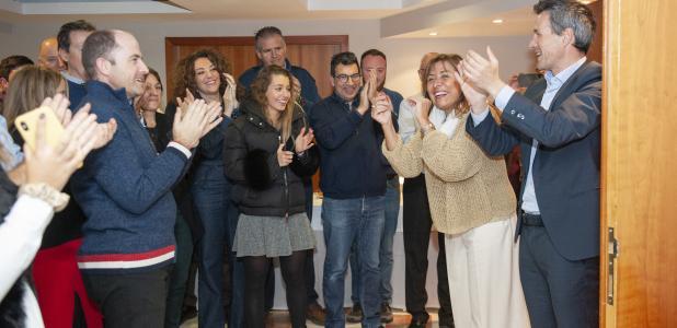 La cònsol de la capital, Conxita Marsol, celebra que els ciutadans li hagin renovat la confiança.
