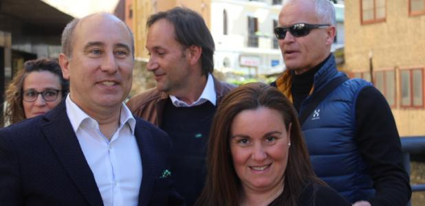 Alfons Clavera i part de la llista d'Units pel Progrés d'Andorra ahir a Escaldes-Engordany.