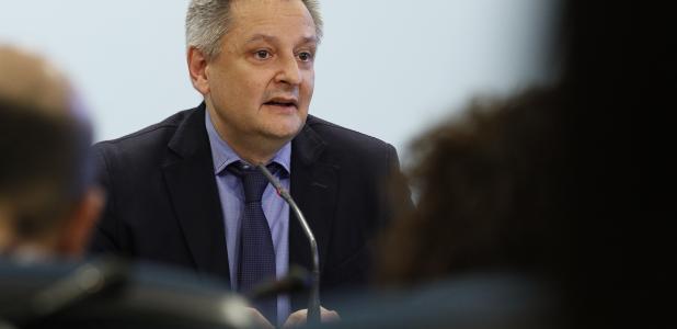Saboya va presentar els detalls del concurs per a la concessió de les línies de transport públic, ahir.