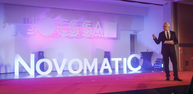 El president de la societat Jocs SA, Ventura Espot, en la presentació del projecte del casino.