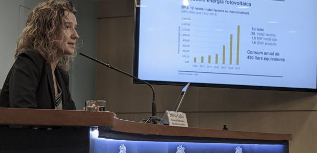 La ministra de Medi Ambient, Agricultura i Sostenibilitat, Sílvia Calvó, va presentar ahir la convocatòria del Renova 2020.