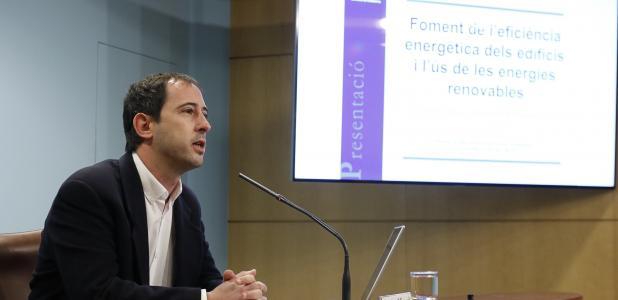 Miquel en la presentació de la nova edició del programa Renova, ahir.