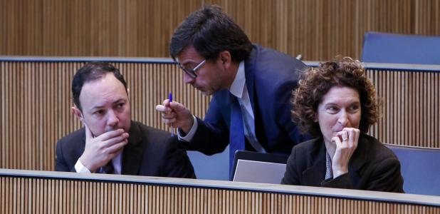 Espot, Cinca i Ubach en la sessió del Consell General d'ahir.