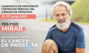 Una imatge de la campanya contra el càncer de pròstata.