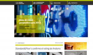 Crèdit Andorrà presenta el blog Research, una nova plataforma de continguts financers oberta al públic