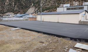 L'aparcament de la zona de la Plana, a Santa Coloma, estarà en funcionament en unes setmanes