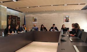 Un moment del consell de comú celebrat ahir a Ordino.