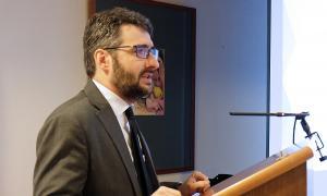 El ministre d'Educació i Ensenyament Superior, Eric Jover, en la inauguració del 'workshop' sobre canvi climàtic.