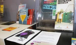 Fulletó informatiu de la campanya 'No i punt' al Punt d'Informació Juvenil (PIJ) d'Encamp.