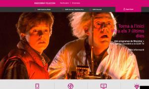 Captura de pantalla de la informació dels dos nous serveis d'Andorra Telecom.