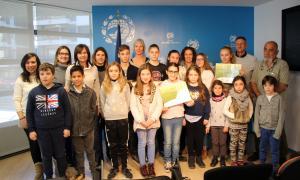 Tots els premiats de la dotzena edició del Concurs d'iniciatives ambientals.