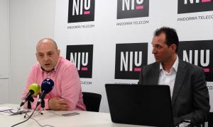 L'emprenedor Raül Martín i el responsable del NIU, Miquel Gouarré, ahir.