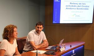 Roda de premsa de balanç de les activitats del Centre Andorra Sostenible, amb la ministra d'Agricultura, Medi Ambient i Sostenibilitat, Sílvia Calvó.