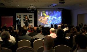 Una empresa emergent ('start up') durant la presentació del seu projecte el 20 de novembre passat.