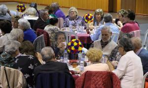 Els padrins presents a la celebració de Sant Jordi.