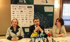 Un moment de la presentació de la 29a Trobada Empresarial al Pirineu, aquest dijous al migdia a Lleida