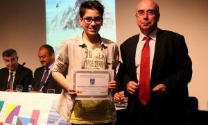 Un dels guanyadors de l'Olímpiada Matemàtica.
