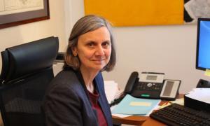 L'ambaixadora de França a Andorra, Jocelyne Caballero, al seu despatx.