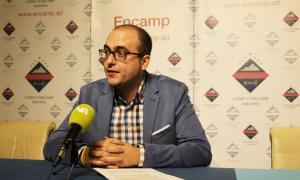 El conseller d'Esports del comú d'Encamp, Xavier Fernández, aquest dimarts a la tarda.