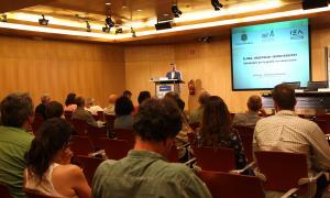 Un moment de la inauguració de la jornada a càrrec del director de Medi Ambient i Sostenibilitat, Marc Rossell.