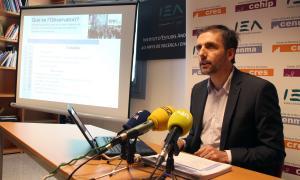 El director del CRES, Joan Micó, presenta els resultats de l'Observatori del primer semestre del 2018.