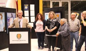 Inauguració de l'exposició a càrrec del conseller de Cultura, Josep Roig