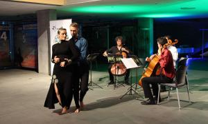 Mònica Vega i Pere Vilarrubla, durant el tango que han ballat.
