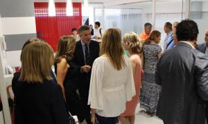 Un moment de la inauguració del nou centre Som Salut.