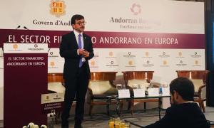 El ministre de Finances, Jordi Cinca durant la seva intervenció.
