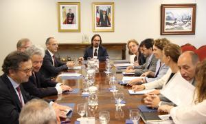 Reunió de treball, divendres passat, amb el cap negociador de la Unió Europea.