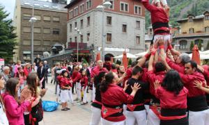 Els castellers d'Andorra en una actuació a Andorra la Vella