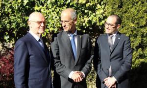 Trobada entre els tres mandataris fa uns mesos a Andorra.
