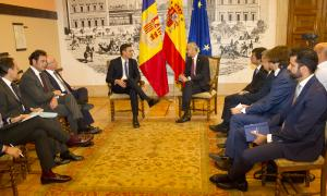 Reunió entre Antoni Martí i Pedro Sánchez el 4 de juny a Madrid.