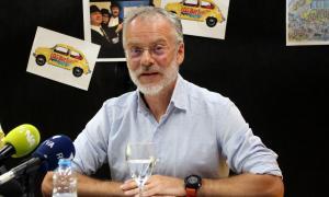 El conseller de Cultura del comú de Sant Julià, Josep Roig, durant la roda de premsa d'aquest dijous a migdia per presentar els canvis a la festa major.