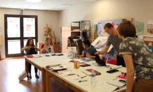Els estudiants del Campus universitari de la llengua catalana durant una de les seves classes en l'edició de l'any passat.