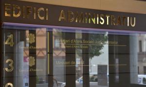La façana de l'edifici on està el ministeri d'Afers Socials.