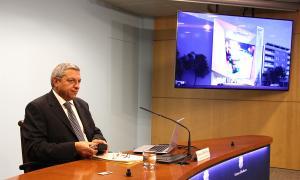 El director del CRAJ, Xavier Bardina, el dia que es va fer pública la resolució del concurs.