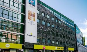 L'edifici central de Crèdit Andorrà.