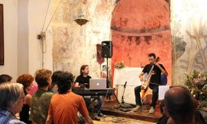 El concert de Landry Riba i Jordi Claret.