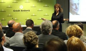 Una imatge anterior de Núria Mas durant una xerrada a Crèdit Andorrà.