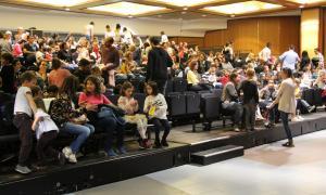 La sala de festes del Complex esportiu i sociocultural d'Encamp.