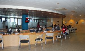El Servei de Tràmits del Govern, a la planta baixa de l'edifici administratiu.
