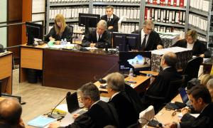 Els magistrats encarregats del judici del 'cas BPA'.