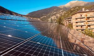 La planta solar de l'Aldosa.