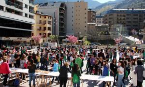 Imatge d'una celebració del congrés de ciència per a infants.